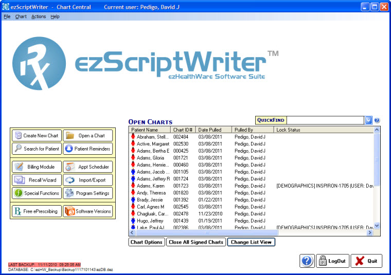 ezScriptWriter - Medical Rx Software